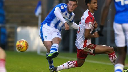 Brennan Dickenson, who made a big impression as a substitute against Carlisle on Saturday. Picture: