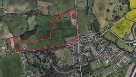 The latest site in Sproughton earmarked for development, this time for 114 homes. Picture: GOOGLE MA