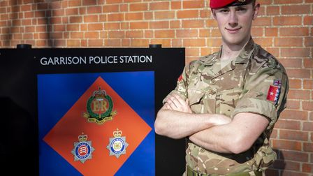 Lance Corporal Wyatt Chappell, of Colchester-based 156 Provost Company Picture:Cpl Jamie Hart