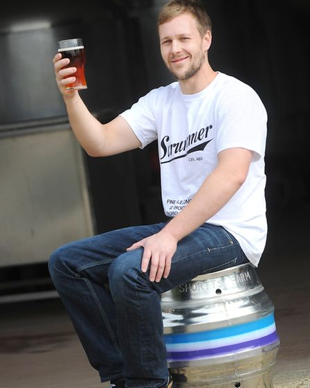 Matt Hammond at his micro brewery at Shortts Farm, Thorndon Picture: GREGG BROWN