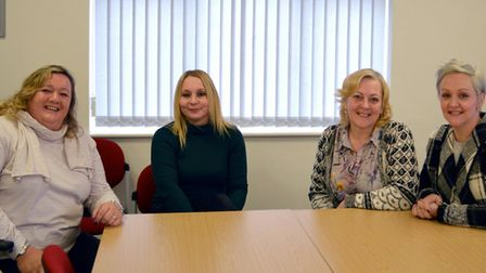 Members of the Suffolk Parent Carer Network, l-r, Anne Humphrys, Lucy Buckle, Sue Willgoss and Joann