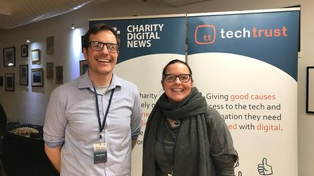 Max Shelley and Sam Parnell of Echoleft at the Tech Trust digital event for charities Picture: ECHO