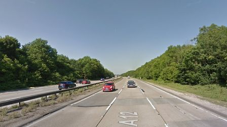 The A12 at Eight Ash Green Picture: GOOGLE MAPS