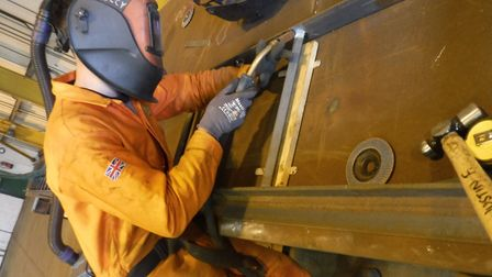 Jake Docwra, who is working as an apprentice at the Stowen Group in Lowestoft Picture: STOWEN GROUP