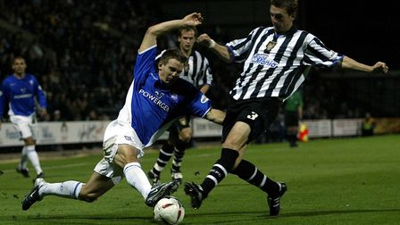 Matt Bloomfield's one and only Ipswich Town appearance came in the League Cup at Notts County in 200