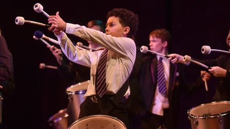Ipswich Academy youngsters taking part in the Celebration of Suffolk Schools' Music Picture: SONYA D