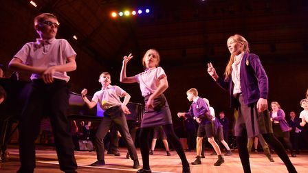 Woodbridge Primary pupils taking part in at Snape Maltings Picture: SONYA DUNCAN