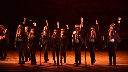 Ipswich Academy students taking part in the event at Snape Maltings Picture: SONYA DUNCAN