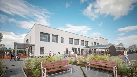 An artist's impression of how the Lexden Springs School extension by Morgan Sindall will look. Pictu