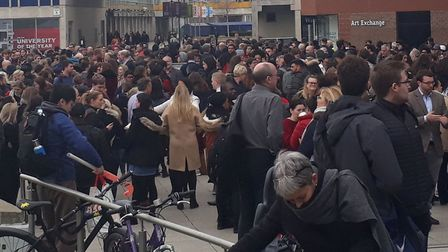 A section of the University of Essex was evacuated after police received reports of a suspicious pac