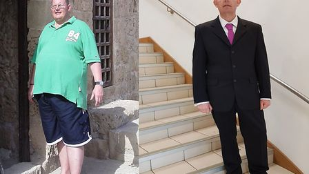 Mark Calvert has lost an incredible 6st and 10lbs since July. Picture: MARK CALVERT