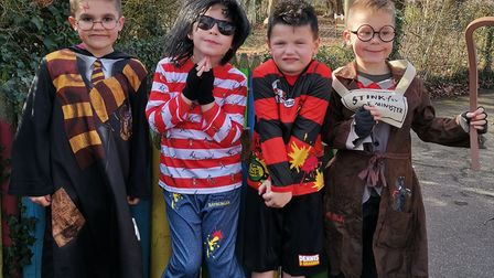 Lewis Bishop as Harry Potter, Dougie Bell as Rat Burger, Rory Firman as Dennis the Menace and Finlay