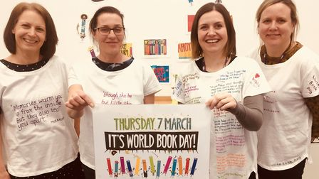 Staff from Suffolk One prepare for World Book Day 2019. Picture: SUFFOLK ONE