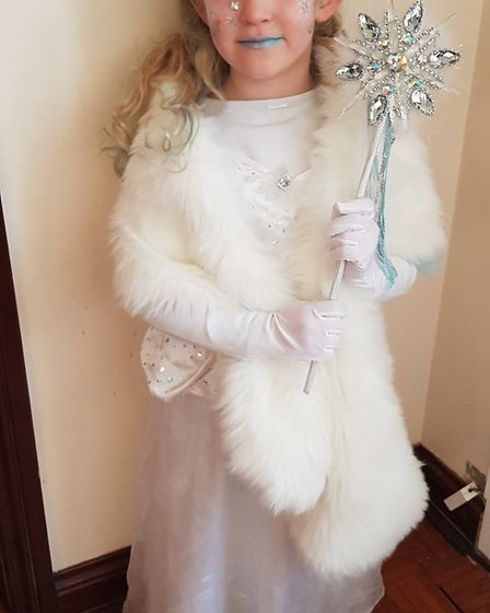 Caitlyn, aged five, from Brooklands Primary School in Brantham as the white witch from Narnia. Pictu