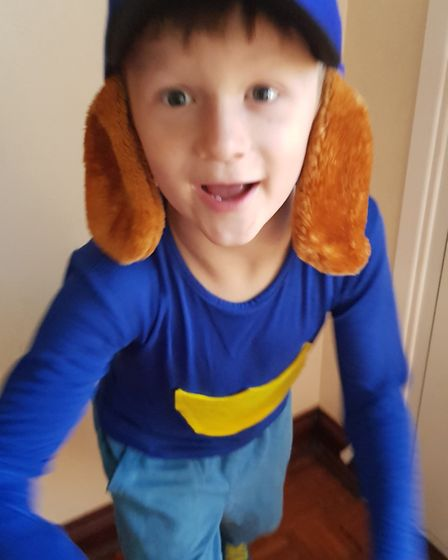 Jack, age seven, from Brooklands Primary School in Brantham as dog man. Picture: CATHRYN JOHNSON