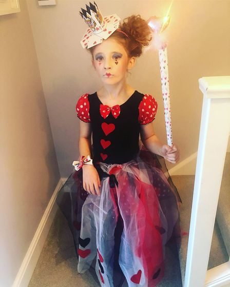 Amelia, age 8, as Queen of Hearts for World Book Day. Picture: SIOBHAN LEE AMIES