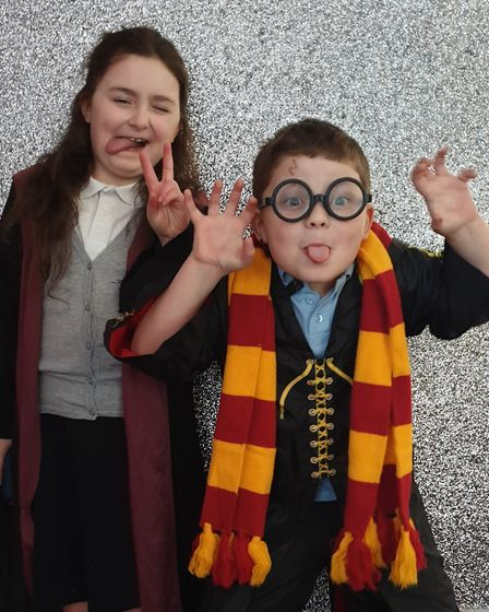 Erin southall from Grange Primary School Felixstowe, Shay Southall from Rushmere School Ipswich. Pic
