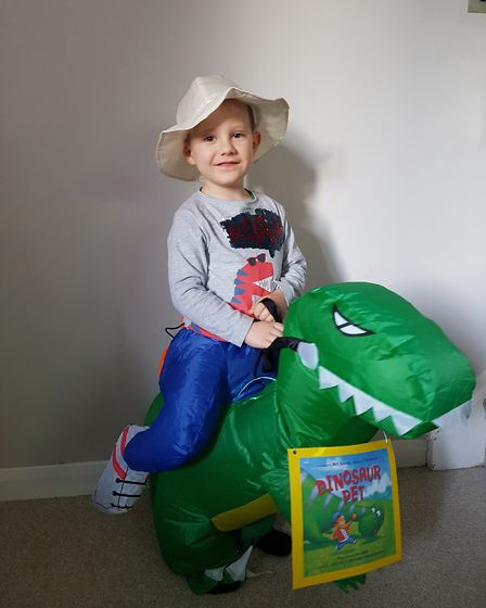 Stanley for his first World Book Day. Picture: SHELLY OLA