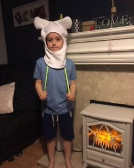 Jacob De'ath as Finn the human from Adventure Time. Picture: MAX BRAD