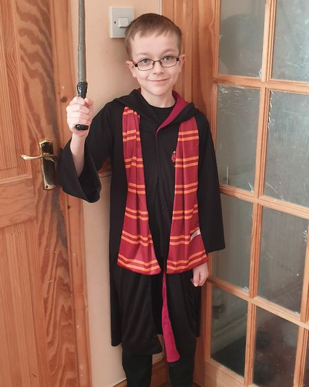Rhys Kennell as Harry Potter. Picture: JOANNE KENNELL
