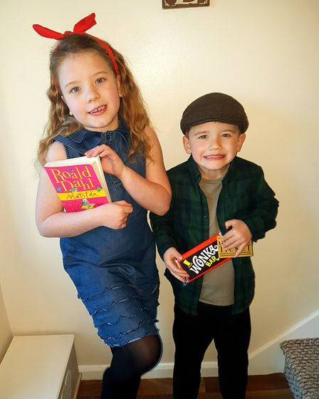 Dulcie as Matilda and Frankie as Charlie Bucket. Oicture: CARLA ROSE