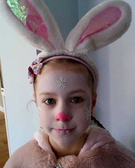 Holly Goodchild from Stutton Primary school dressed as Lily Bobtail from Peter Rabbit. Picture: REBE