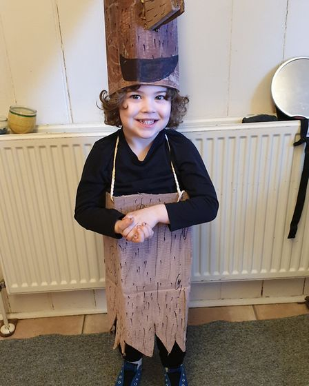 Archer from St Margaret's Coe School Reception as Stick Man. Picture:BETHANY MURRAY-MORRISH