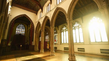 St Peter's Church, Market Hill, Sudbury, is the centre of �2.5m regeneration plans. Picture: GREGG B