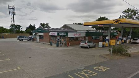 The crash happened at the back of a service station in Darsham, near Saxmundham Picture: GOOGLE