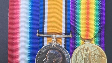 The medals of Captain Robert Smylie. Missing is the 1914/15 Star Picture: SUBMITTED BY SELLER