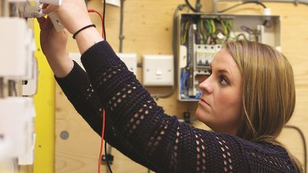 Female electrician at work in the UK Picture: NICEIC
