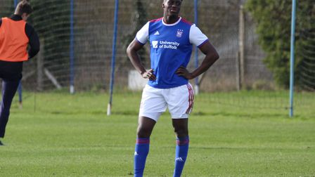 Josh Emmanuel featured for Town U23s as they beat Burnley 2-0 at Playford Road on Monday. Picture: R