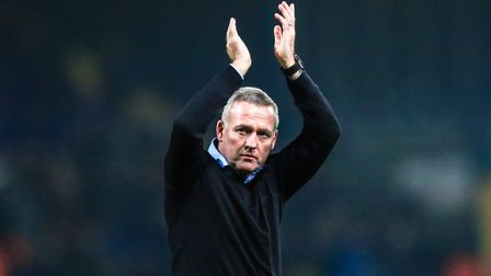 Paul Lambert has asked the Ipswich Town fans to stay with his team. Photo: STEVE WALLER