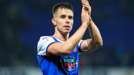 Jonas Knudsen is available again for Ipswich Town after serving a one-game ban. Photo: Steve Waller