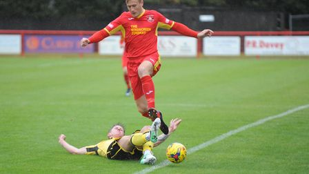 Dan Morphew, who is set to start against Tamworth following an ankle injury. Picture: BEN POOLEY