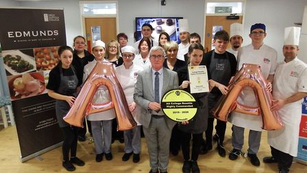 Edmunds restaurant, based at West Suffolk College, have been rewarded for the exemplary standard of