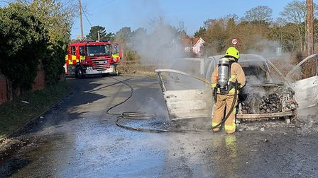 A crew from Essex extinguished the blaze by 9.02am Picture: ROBERT BIRNIE