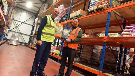 Matthew Peters, Operations Manager, right with Des Smith, Managing Director, left, at the Skinner's