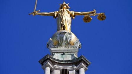 The Lady Justice statue on top of the Old Bailey (Central Criminal Court of England and Wales) in Lo