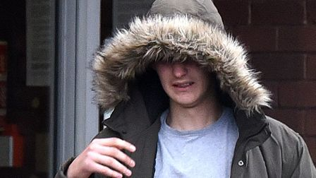 Cohan Semple in a hooded jacket leaving a previous court hearing. Picture: ARCHANT