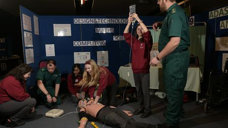 Pupils from Copleston High School also got to learn first aid with the paramedics Picture: SARAH LU