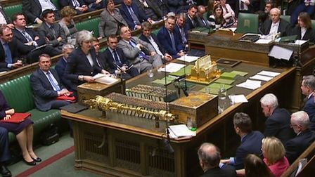 Prime Minister Theresa May speaks to MPs in the House of Commons. Picture: PA Wire