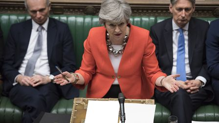 Prime Minister Theresa May during the debate on Brexit this week - minsters seem to realise we are l