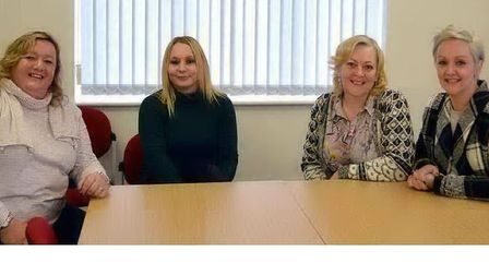 Members of the Suffolk Parent Carer Network (L-R) Anne Humphrys, Lucy Buckle, Sue Willgoss and Joann