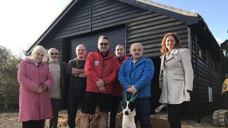 Andy King, Chairman of Suffolk Lowland Search and Rescue (SULSAR) with volunteers outside their new