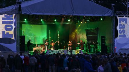 Night falls over the main stage at the increasingly popular Folk East. Picture Gary Donnison