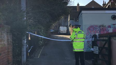 Ryegate Road was closed while Essex Police worked at the scene Picture: JAKE FOXFORD