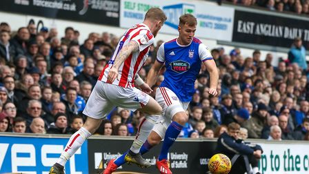 James Bree in action early on in the game. Picture: STEVE WALLER WWW.STEPHENWALLER.COM