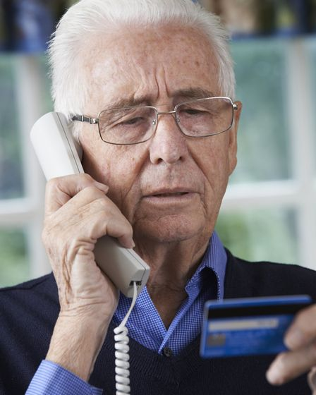 Trading Standards say you should never give away personal or financial details over the phone Pictur