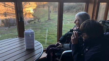 Residents used binoculars to spot their feathered friends during the survey. Picture: CARE UK